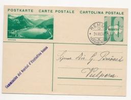 """Schweiz Suisse 1934: Bild-PK CPI """"AROSA"""" Mit Stempel REMUS 24.VII.34 (GRAUBÜNDEN) Nach Vulpera (Text In Romanisch) - Langues"""