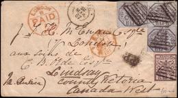 Cover ) STATO PONTIFICIO 1867 (28 Mar.)   Busta Senza Testo, Da Roma, Via Londra, Per Lindsay (Canada) Affran - Stato Pontificio