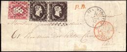 Cover ) SARDEGNA 1852 ( 11 Mar.)   Lettera Con Parte Di Testo Da Nizza Per Parigi Affrancata Per 50c. Con 40c - Sardegna