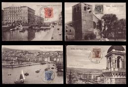 """Postcard ) REGNO D'ITALIA 1922 (7 Giu.)   """"Congresso Filatelico"""". Serie Completa Di 4 Valori Su Cartoline Non Vi - Italia"""