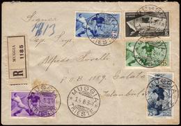 Cover ) REGNO D'ITALIA 1934 (14 Giu.)   Busta Raccomandata Da Muggia Per Istanbul, Affrancata Per 7,75+2,50 L - Italia