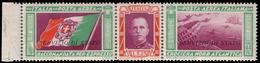 """MNH ) REGNO D'ITALIA 1933   Posta Aerea Di Servizio """"Crociera Del Decennale"""". Trittico 5,25+44,75 Lire Sopr - Italia"""