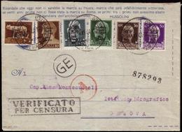 """Cover ) BASE ATLANTICA 1944 (18 Mar.)   Serie Completa Di 6 Valori, Soprastampati """"Répubblica / Sociale / Ita - Nuovi"""