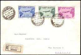 Cover ) REPUBBLICA 1961 (3 Apr.)   Busta Raccomandata Da Bolzano Per Bologna (5.4), Affrancata Per 560 Lire C - Non Classificati