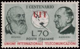 """MHH ) REPUBBLICA 1965   Varietà. 70 Lire """"UIT"""" Scritta In Rosso In Basso      Provenienza   Collezione Romano Pad - Non Classificati"""
