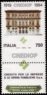 """MNH ) REPUBBLICA 1994   Varietà. 750 Lire """"CREDIOP"""", Dentellatura Orizzontale Spostata Verso Il Basso      Prov - Non Classificati"""
