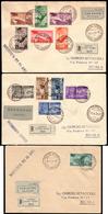 """Covers ) EMISSIONI GENERALI 1934 (19 Giu./6 Lug.)   """"Campionati Mondiali Di Calcio"""". Serie Completa, Di Posta - Italia"""