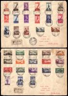 """Covers ) AFRICA ORIENTALE ITALIANA 1939 (5 Apr.)   """"Soggetti Africani"""". Serie Completa Con Posta Aerea Ed Espr - Africa Orientale Italiana"""