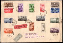 "Cover ) LIBIA 1934 (9 Apr.)   ""VIII Fiera Di Tripoli"". Serie Completa Di 14 Valori Su Busta Da Tripoli Per Ga - Libia"