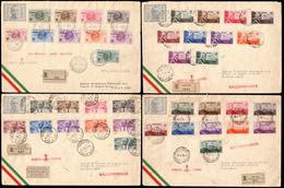 """Covers ) GIRI COLONIALI 1934/1935   Posta Aerea """"Roma-Mogadiscio"""". Serie Completa Di 10 Valori Di Eritrea, Cir - Vari"""