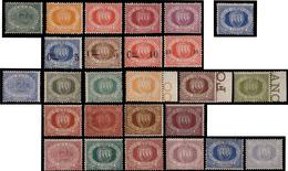 """MNH/MH ) SAN MARINO 1877/1899   """"Cifra E Stemma"""". La Collezione Non Completa. Tre Certificati Per I Valori Da - San Marino"""