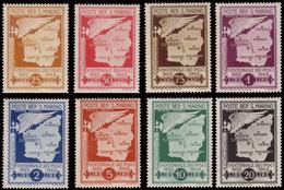"MNH/MH ) SAN MARINO 1943   Posta Aerea Non Emessa ""Cartina Di San Marino Con Fascio E Ala"". Serie Completa Di - San Marino"