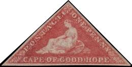 MH ) CAPO DI BUONA SPERANZA 1855/1858   1d. Rosso Rosa Scuro (deep Rose-red), Tiratura Perkins Bacon      Cert - Sud Africa (...-1961)
