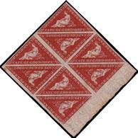 MNH/MH ) CAPO DI BUONA SPERANZA 1863/1864 | 1d. Rosso Carminio Scuro (deep Carmine-red), Tiratura De La Rue, B - África Del Sur (...-1961)