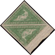 MNH/MH ) CAPO DI BUONA SPERANZA 1863/1864 | 1s. Verde Smeraldo Brillande (bright Emerald-green), Tiratura De L - África Del Sur (...-1961)