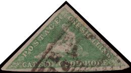 Used ) CAPO DI BUONA SPERANZA 1863/1864   1s. Verde Smeraldo Brillante (bright Emerald-green), Tiratura De L - Sud Africa (...-1961)
