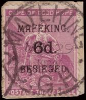 Fragment ) CAPO DI BUONA SPERANZA 1900 | Assedio Di Mafeking. 6d./3d. Magenta |  | Cert. M. Raybaudi |  | Fragment...... - África Del Sur (...-1961)