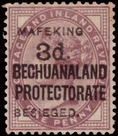 MH ) CAPO DI BUONA SPERANZA 1900 | Assedio Di Mafeking. 3d./1d. Lilla (lilac) Su Esemplare DI Bechuanaland - África Del Sur (...-1961)