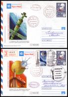 Cover ) RUSSIA 1989   Stazione Orbitale MIR, I Due Cosmogrammi Progress 41-Mir-Soyuz TM-7 Di Andata E Ritorno - Russia & URSS