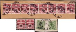 MNH/Fragments ) FAROE 1919/1940 | Insieme Formato Da Un Frammento Con Il N.1 Del 1919 Soprastampato, Una Striscia Di - Islas Faeroes