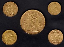 ) FRANCIA  | Lotto Formato Da 5 Monete Differenti In Oro. - Gold