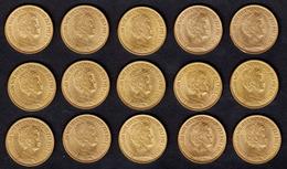 ) OLANDA  | Lotto Formato Da 15 Monete In Oro Anni Vari. - [ 8] Gold- & Silbermünzen