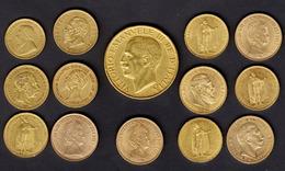 ) PAESI EUROPEI  | Lotto Formato Da 14 Monete In Oro Di Vari Paesi E Anni. - Oro