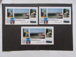 BELGIQUE  -   LOT DE 3 CARTES Souvenir  Theme  De La BD  Année 1996    ( 30) - Cartes Souvenir