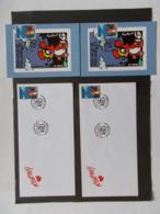 BELGIQUE  -   LOT DE 2 CARTES Souvenir Et 2 Enveloppes   Themes  De La BD  Année 1996  Du N° 2663  ( 31) - Cartes Souvenir