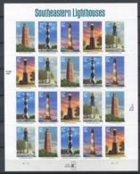 Etats-Unis ** N° 3479 à à 3483 - Feuille - Phares Du Sud Ouest - Unused Stamps