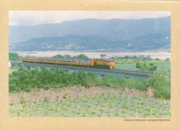 Taiwan - TRA's Train On Cheng-kung Bridge, Between Luye & Guanshan Townships, Taitung - Trains