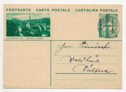 """Schweiz Suisse 1934: Bild-PK CPI """"ROMAINMÔTIER - EGLISE, MUSÉE""""  Mit Stempel GSTAAD 8.VI.34 Nach Vulpera - Entiers Postaux"""