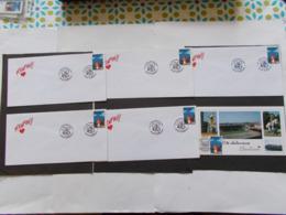 BELGIQUE  -   LOT DE 1 CARTES Souvenir Et 5 Enveloppes   Themes  De La BD  Année 1996  Du N° 2663  ( 33) - Cartes Souvenir