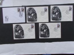 BELGIQUE  -   LOT DE  5 Enveloppes   Themes  De La BD  Année 1989  Du N° 2339  ( 35) - Cartes Souvenir