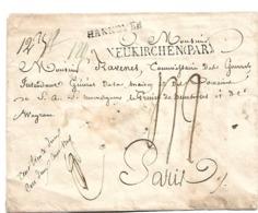 HAN001 / HANNOVER - Einzeiler Neurichen + Hannover 1811 Nach Paris. Wachssiegel, Unbeschädigt Rückseitig + Ankunftstpl. - Duitsland