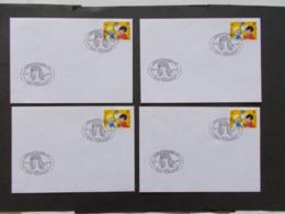 BELGIQUE  -   LOT DE  4  Enveloppes   Themes  De La BD  Année 1997  Du N° 2707  ( 40 ) - Cartes Souvenir