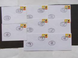 BELGIQUE  -   LOT DE  8  Enveloppes  Obliterations Differente   Themes  De La BD  Année 1997  Du N° 2707  ( 41 ) - Cartes Souvenir