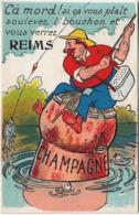 Reims : Carte Humoristique Avec Vues à L'intérieur Bouchon - Reims