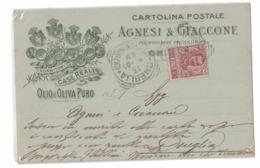 CARTOLINA POSTALE  OLIO DI OLIVA  PURO AGNESI E GIACCONE - Publicidad
