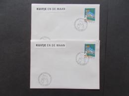 BELGIQUE  -   LOT DE  2  Enveloppes    Themes  De La BD  TINTIN  Année 2004  Du N° 3251  ( 42 ) - Cartes Souvenir
