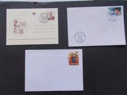 BELGIQUE  -   LOT DE  2  Enveloppes  + 1 Cartes   Themes  De La BD  TINTIN  Année 2004  Du N° 3233 + 3576  ( 43 ) - Cartes Souvenir
