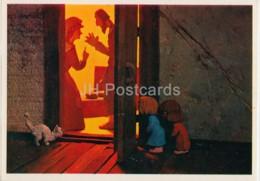 Hansel And Gretel By Brothers Grimm - Cat - Dolls - Fairy Tale - 1975 - Russia USSR - Unused - Fiabe, Racconti Popolari & Leggende
