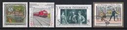 Autriche 2001 : Timbres Yvert & Tellier N° 2183 - 2184 - 2186 - 2187 - 2189 - 2193 Et 2194 Oblitérés. - 1945-.... 2ème République