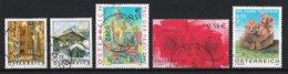 Autriche 2002 : Timbres Yvert & Tellier N° 2195 - 2197 - 2203 - 2205 - 2217 - 2225 Et 2233 Oblitérés. - 1945-.... 2ème République