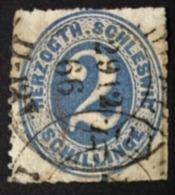 1865 Ziffer 2 Schilling Inschrift HERZOGTH.SCHLESWIG Mi. 16 - Schleswig-Holstein
