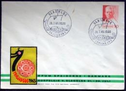 Denmark 50 øre Carl Nielsen On Illustrated Scout Envelope Canceled With Special Stamp Slagelse Trelleborg,    (lot 3601) - Danimarca