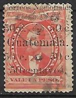 GUATEMALA     -   1886.   Y&T N° 28 Oblitéré.  Surchargé - Guatemala
