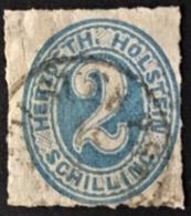 1865/1866 Ziffer 2 Schilling Inschrift HERZOGTH.HOLSTEIN Mi. 24 - Schleswig-Holstein