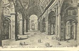 Roma - Basilica Di S. Pietro In Vaticano - L'Interno Generale Della Chiesa - San Pietro