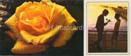 Neftyanye Kamni - Neft Daslari - At Dawn - Flowers - 1975 - Azerbaijan USSR - Unused - Azerbaïjan